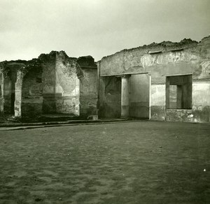 Italy Pompeii Pompeii Baths of Stabiae Old Possemiers Stereo Photo 1910