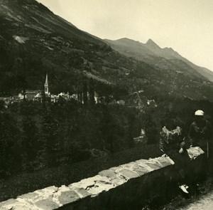France Pyrenees Saint Sauveur Napoleon Bridge Old Possemiers Stereo Photo 1910