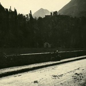 France Pyrenees St Sauveur Road Solferino Chapel Possemiers Stereo Photo 1910