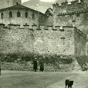 France Pyrenees Luz Church of Templars Old Possemiers Stereo Photo 1910