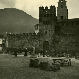 France Pyrenees Luz Church of Templars TempliersOld Possemiers Stereo Photo 1910