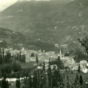 France Pyrenees Luz general View Old Possemiers Stereo Photo Stereoview 1910