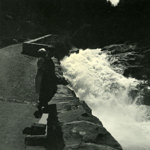 France Pyrenees Falls of Mahoura Cave Old Possemiers Stereo Photo 1910