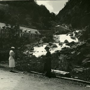 France Pyrenees Baths of Petit Saint Sauveur Old Possemiers Stereo Photo 1910