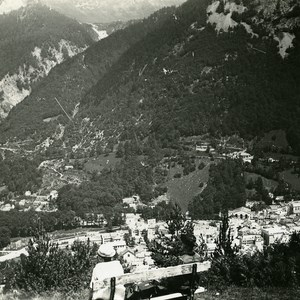 France Pyrenees Cauterets Panorama Old Possemiers Stereo Photo 1910