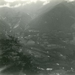 France Cauterets View of Queen Hortense Barn Old Possemiers Stereo Photo 1910