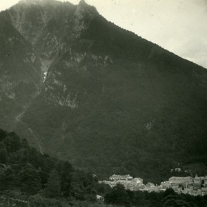 France Pyrenees Cauterets View from Vieux Lauze Old Possemiers Stereo Photo 1910