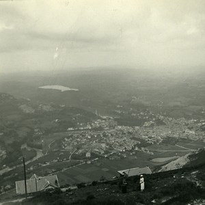 France Pyrenees Lourdes Panorama Old Possemiers Stereo Photo Stereoview 1910