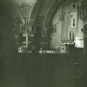 France Pyrenees Lourdes Rosaire Church Interior Old Possemiers Stereo Photo 1910
