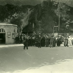 France Pyrenees Lourdes Grotto Old Possemiers Stereo Photo Stereoview 1910