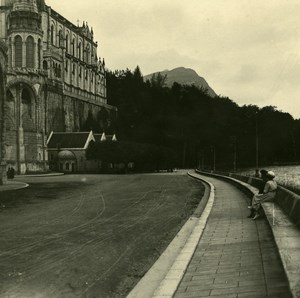 France Pyrenees Lourdes Border of Gave Old Possemiers Stereo Photo 1910
