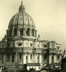 Vatican City St Peter's Basilica Old NPG Stereo Photo Stereoview 1900