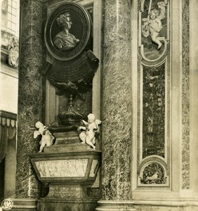 Vatican City St Peter Basilica Detail Old NPG Stereo Stereoview Photo 1900
