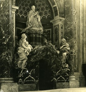 Vatican City St Peter Basilica Detail Old NPG Stereo Photo Stereoview 1900