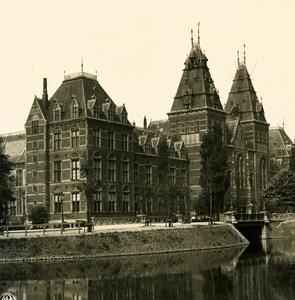 Netherlands Amsterdam Rijksmuseum Old NPG Stereo Stereoview Photo 1900