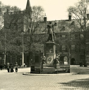 Netherlands The Hague Statue Wilhelm II Old NPG Stereo Stereoview Photo 1900