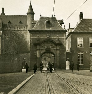 Netherlands The Hague Door Old NPG Stereo Photo Stereoview 1900