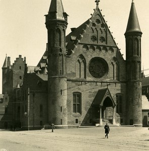 Netherlands The Hague Church Old NPG Stereo Stereoview Photo 1900