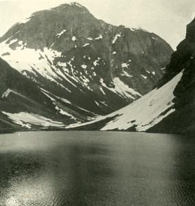 Norway Norangdal panorama Old NPG Stereo Photo Stereoview 1900