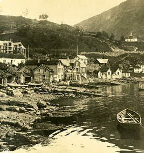 Norway Merok one Street Old NPG Stereo Photo Stereoview 1900