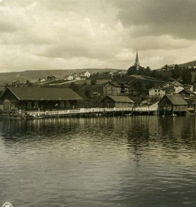 Norway Lillehammer Panorama Old NPG Stereo Photo Stereoview 1900