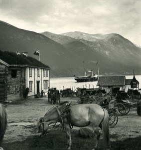 Norway Romsdalfjord Old NPG Stereo Photo Stereoview 1900