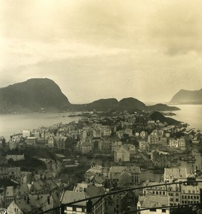 Norvege Aalesund ancienne photo stereo Stereoscope NPG 1900
