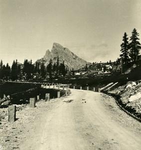 Italy Alps Dolomites Falzarego Pass Old NPG Stereo Photo Stereoview 1900