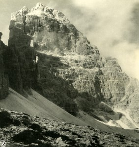 Italy Alps Dolomites Zinne Misurina Old NPG Stereo Photo Stereoview 1900