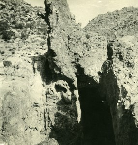 Argentina Andes Copper Mine Entry Old NPG Stereo Stereoview Photo 1900