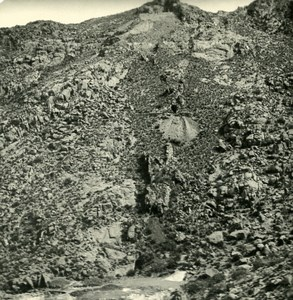 Argentina Andes Silver Mine Residue Old NPG Stereo Stereoview Photo 1900