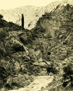 Argentina Andes Massive Granite 3200M Old NPG Stereo Photo Stereoview 1900