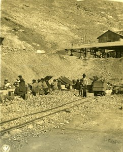 Bolivia Andes Oruro Silver Mine Workers Old NPG Stereo Photo Stereoview 1900