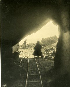 Bolivia Andes Tin Ore Mine Entry Mining Old NPG Stereo Photo Stereoview 1900
