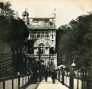 France Paris World Fair Pavilion Library Press Old Stereoview Photo SIP 1900