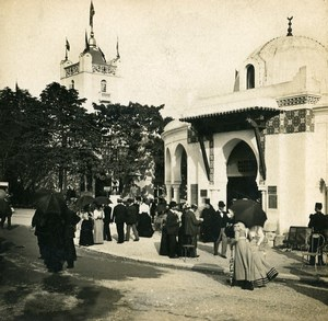 France Paris World Fair Street of Algiers Old Stereoview Photo SIP 1900