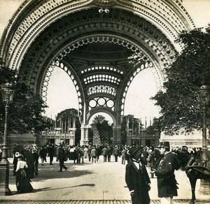 France Paris World Fair Porte Monumentale Old Stereoview Photo SIP 1900