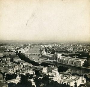 France Paris World Fair Pavilions Panorama Old Stereoview Photo SIP 1900