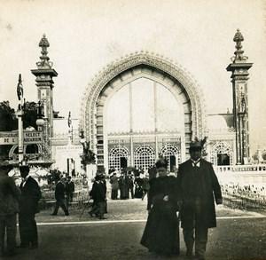 France Paris World Fair Greenhouse Old Stereoview Photo SIP 1900