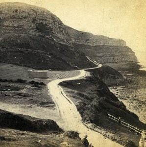 UK North Wales Llandudno Great Orme Head Old Stereoview Photo Bedford 1865