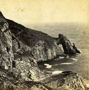 UK Devonshhire Torquay Natural Arch Old Stereoview Photo Bedford 1865