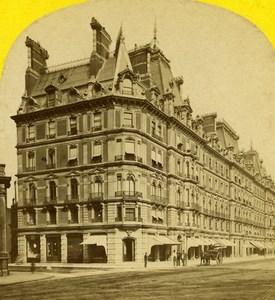 United Kingdom London Belgravian Mansions Old Stereoview Photo York 1860