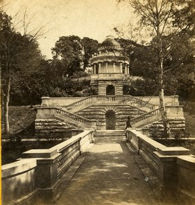 United Kingdom London Mausoleum to the Duchess of Kent Old Stereoview Photo 1860