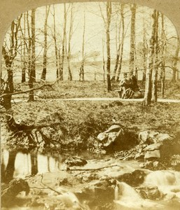 United Kingdom Buxton Lover s Walk Serpentine Old Stereoview Photo 1860