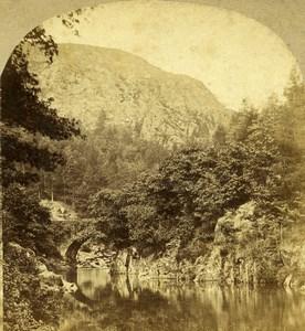 United Kingdom North Wales Pont Aberglaslyn Old Stereoview Photo Sedgfield 1860