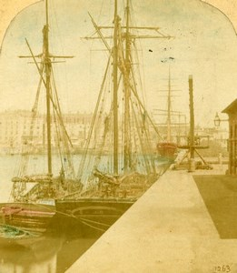 United Kingdom Ramsgate View from the Pier Stereoview Photo Francis Frith 1860