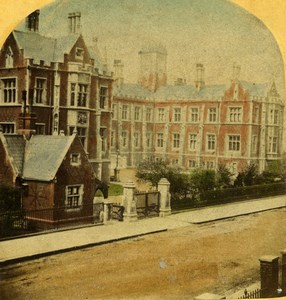 United Kingdom London Hospital Brompton Old Stereoview Photo LSC 1860