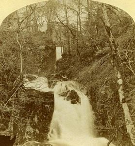 United Kingdom Westmorland Landscape Rydall Park Fall Old Stereoview Photo 1860
