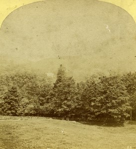 United Kingdom Ryder Hall from Loughrigg Fell Stereoview Photo Ogle & Edge 1860