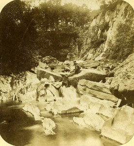 United Kingdom Scotland Trossachs Landscape Old Stereoview Photo 1860